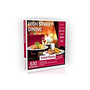 Buyagift High Street Dining Gift Experiences Box – 630 three course dinners for two at popular restaurants across the UK