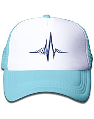 Electrocardiogram Baby Boy Girl Classic Adjustable Baseball Mesh Cap