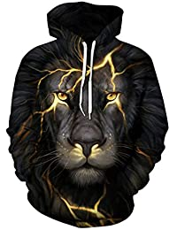 Sucor Mens Pullover 3D Printed Hoodies Galaxy Sweater Hooded Sweatshirt with Pocket
