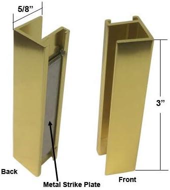 Ducha puerta u-channel con Metal Placa De Cerradura para 3/8