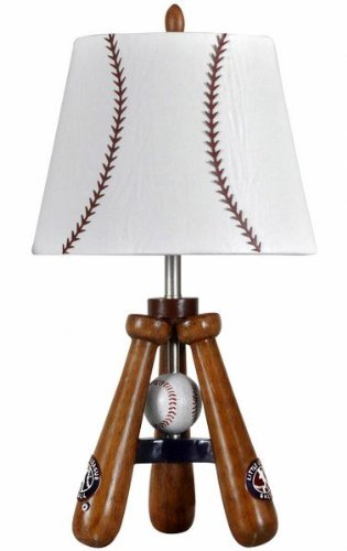baseball theme round table lamp - Baseball Lamp