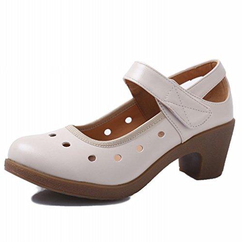 Suave Baile BYLE Samba Inferior Zapatos Sandalias Zapatos Tobillo de Cuadrado de Baile de Baile 36 Zapatos Jazz de Modern Cuero zUqzSwA