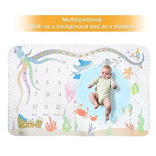 (Zoekeroo Monthly Milestone Swaddle Blanket 60