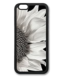 BESTER Black And White Sunflower Theme Iphone 6 Case TPU Material (4.7inch)