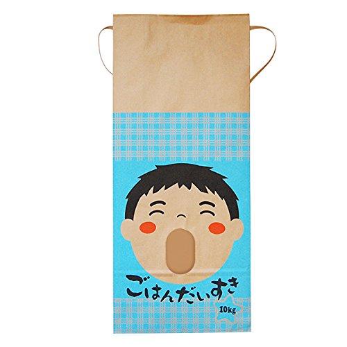 マルタカ クラフト ごはんだいすき 男の子(銘柄なし) 10kg用紐付 1ケース(300枚入) KH-0031 B077GKSWXT 10kg用米袋|1ケース(300枚入) 1ケース(300枚入) 10kg用米袋