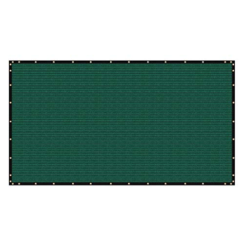 ColourTree 2nd Generation 4' x 50' Green Fence Privacy Screen Windscreen Cover Fabric Shade Tarp Netting Mesh Cloth - Commercial Grade 170 GSM - Heavy Duty - 3 Years Warranty - CUSTOM SIZE AVAILABLE ()