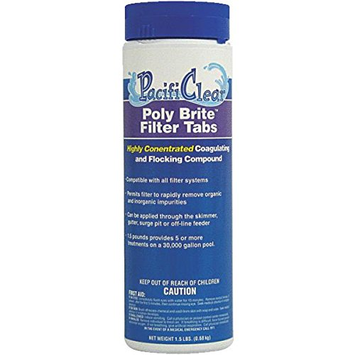 Pacifi Clear F033002018PC 1-1/2 Lb Poly Brite Filter Tabs