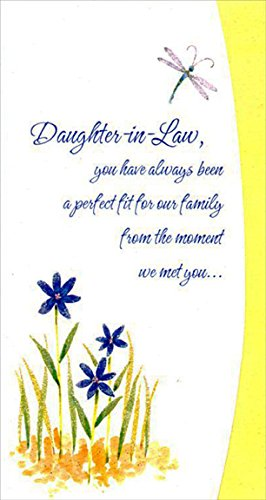 Amazon dragonfly and blue flowers daughter in law designer dragonfly and blue flowers daughter in law designer greetings mothers day card m4hsunfo