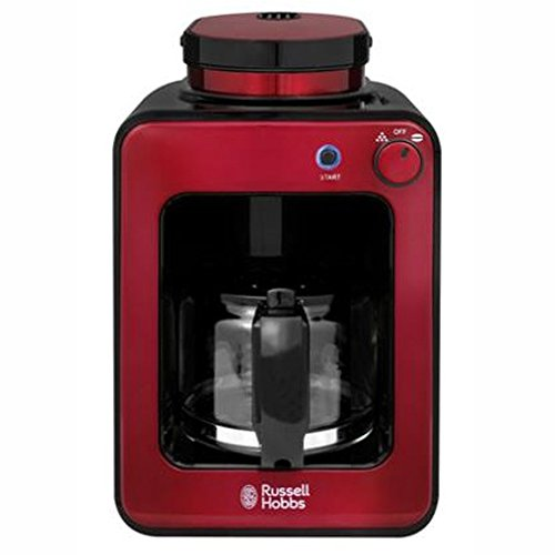 Russell Hobbs RH-G6686 Electric Coffee Maker Brewer Dripper Machine with Built-in Coffee Grinder 220V (Red) Russell Hobbs