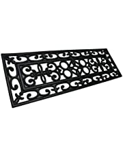 Rubber-Cal 10-104-004-6PK Regal Stair Treads Rubber Step Mats, 9.75 by 29.75-Inch, Black - 6 Pcs