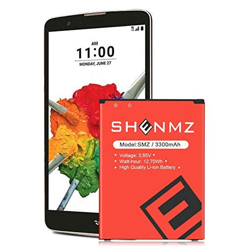LG Stylo 2 Battery Upgraded,SHENMZ [3300mAh] Battery Replacement for LG Stylo 2 Plus MS550 K550 LS775 LTE| LG BL-45B1F Spare Battery (24 Month Warranty)