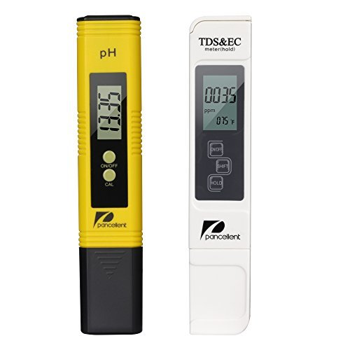 Water Quality Test Meter Pancellent TDS PH EC Temperature 4 in 1 Set (Water Ph Meters)