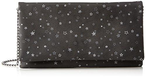 s.Oliver (Bags) 39.711.94.8083 - Pochette da giorno Donna, Grau (Grey/dark Grey Aop), 2x13.5x26.5 cm (B x H T)