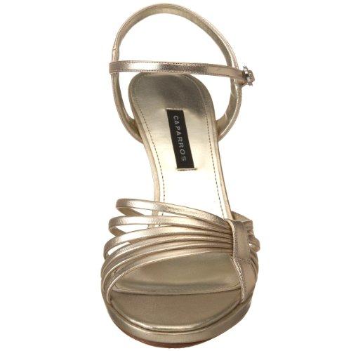 Caparros Kvinners Kerry Plattform Sandal Gull Metallisk