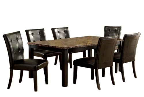 Furniture of America Belleterre 7-Piece Dining Table Set ...