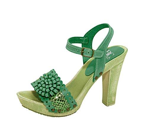 Heine - Best Connections Damen-Schuhe Sandalette Grün