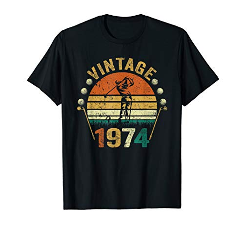 - 45th Birthday Gift Vintage 1974 Golf Lover Golfer T-Shirt