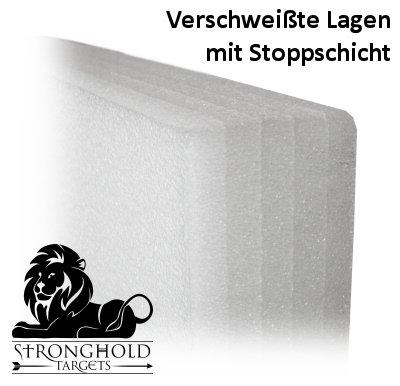 Gr/ö/ße L 100x100x20cm Stronghold Schaumscheibe Medium bis 45 lbs