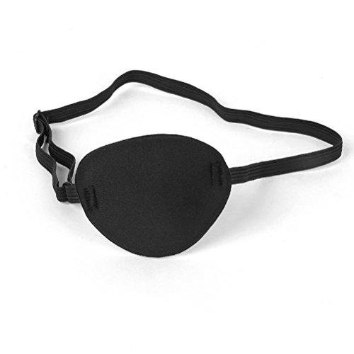 3D Single Eye Mask Pirate Eye Patch for Lazy Eye / Halloween Costume, Comfortable Concave Shape for Adults and Kids - Black - Left Eye Costumes