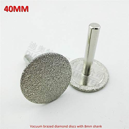 Vacuum brazed Diamond Discs 3pcs Dia 50mm with 8mm Shank for Cutting Grinding and Engraving Mini Diamond Saw Blade Tool