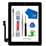 MMOBIEL Digitizer for iPad 3 (Black) 9.7 Inch Touch Screen Front Display Assembly Incl Home Button Flex Camera Holder Pre Installed Adhesives and Tool kit