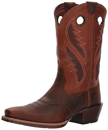 Ariat Men's Venttek Narrow Square Toe Ultra Western Boot, Brown Oiled Rowdy/Two Tone tan, 9 D US