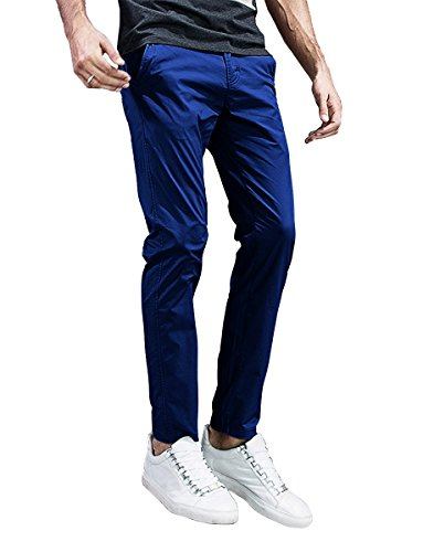 - Match Mens Slim-Tapered Flat-Front Casual Pants (40, 8105 Washed Blue)