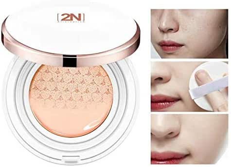 2 Pcs Snow Innocent Makeup BB Cream Breathing Soothing Cushion for Shrinking Pores, Moisturizing, Concealing Spot, Brighten Skin Tone and Lifting Skin Texture (Skin)
