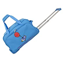 Ed Heck Flying Penguin Wheeled Duffel 20-Inch, Sky Blue, One Size