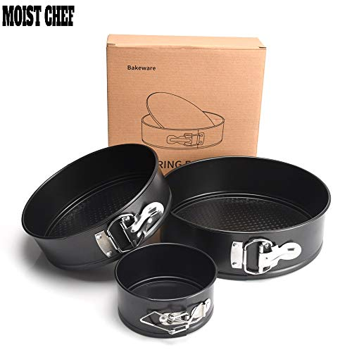 Moist Chef Non Stick Springform Pan 5/7/9 inch Set of 3