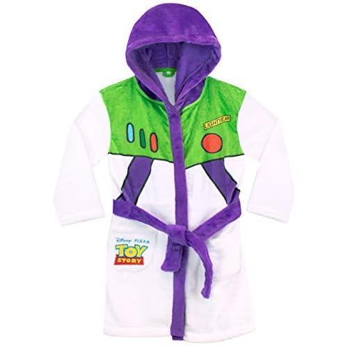 41tY IpbmsL. SS500 Bata para niños de Toy Story. Para que te parezcas al guardián espacial Buzz Lightyear, esta bata de baño viene con el diseño de su uniforme. 100% Poliéster