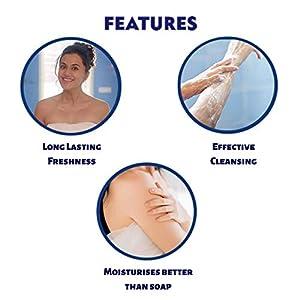 NIVEA Shower Gel, Water Lily & Oil Body Wash, Women, 250ml And NIVEA Men Lip Care, Active Care Lip Balm, SPF 15, 4.8g