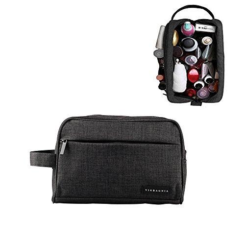 VIGBAGNIA Travel Toiletry Bag Travel Gym Grooming Shaving Bag Personal Shave Dopp Kit Travel Bottles Organizer bag Waterproof Lining For Men(Dark - Bottle Shave