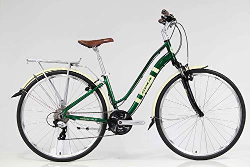 Bicicleta aro 700c urbana Soul Amsterdam Retro Shimano Tourney TX 24v - Tamanho S - Verde/Bege