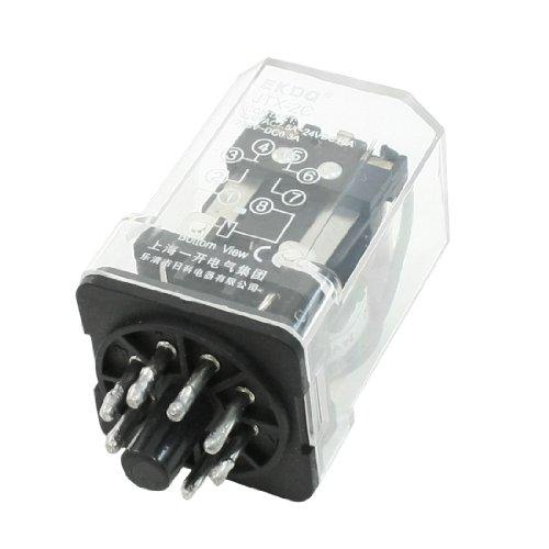 Uxcell JTX-2C DC 24V Coil AC 220V 7.5 Amp 24VDC 10 Amp 8P DPDT Power Relay