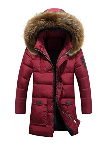 Jacket Quilted Down Jacket Coat Jacket Comfortable Thick Hooded Winered Winter Coat Down Warm Fur Coat Warm Battercake Collar Winter Men's Down Winter Hooded qvvt08