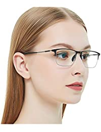 362cb0312cd Eyewear Frames-OCCI CHIARI-Rectangle Lightweight Non-Prescription  Eyeglasses Frame with Clear Lenses