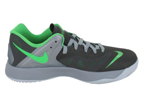 Nike Mens Nike Hyperfuse Lage Basketbalschoenen 12 Men Us (night Stadium / Psn Grn / Stdm Gry / Whi)
