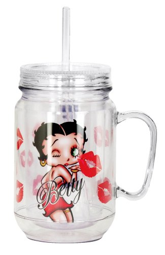 Betty Boop Kiss Mason Jar, Toy, Red