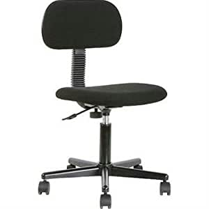 Mainstays Black Fabric Swivel Chair On Casters Office Products
