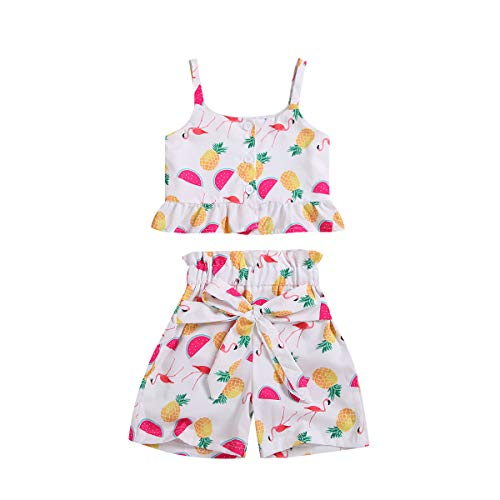 Girls Cloting -  Toddler Baby Girl Wartermelon Straped Crop