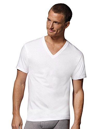 (Hanes Men's 3-Pack V-Neck T-Shirt (XX-Large (50-52), White) )