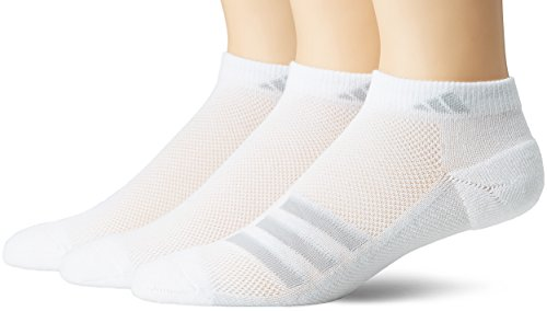 adidas Mens Climacool Superlite Low Cut Socks (3-Pack), White/Grey/Clear Onix, Size 6-12
