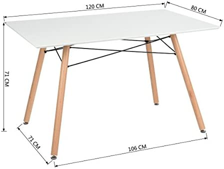 White Dining Table inspirade DSW Retro Eiffel For Dining Bedroom Kitchen - Delivery 4 to 5 working days