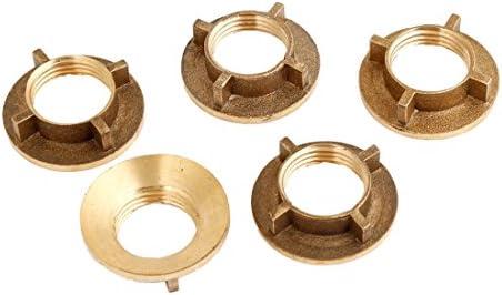 Timagebreze 5個 ゴールドトーンブラス 1/2 インチPT ねじ式家庭用ウォータータップ蛇口ナット