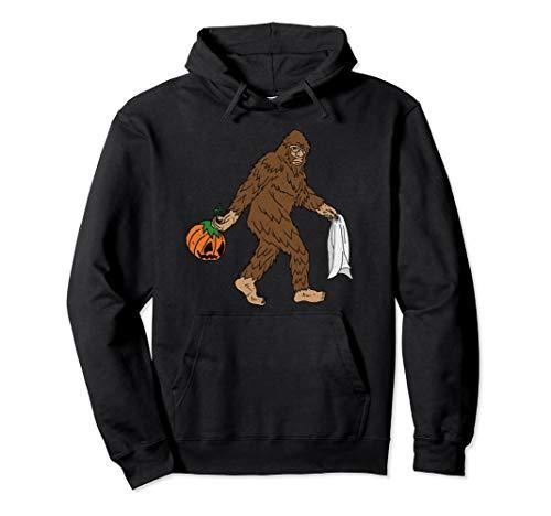 Halloween Bigfoot Jack OLantern Pumpkin Hoodie