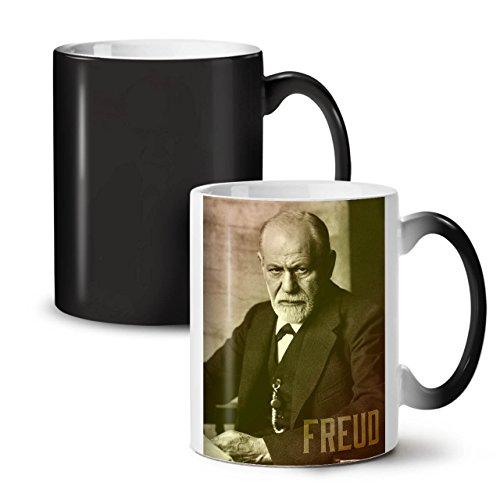 Senior Citizen Day Costume Ideas (Sigmund Freud Famous Person Black Colour Changing Tea Coffee Ceramic Mug 11 oz | Wellcoda)