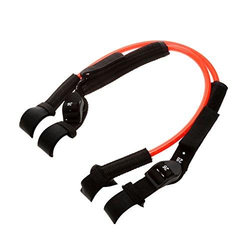 (2 Pieces TPU Windsurfing Harness Line Adjustable 22-28 Inch Orange )
