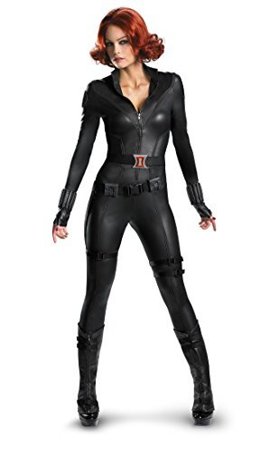 Disguise Women's Marvel Avengers Black Widow Costume, Black, X-Large/(18-20) - Avengers Black Widow Costume