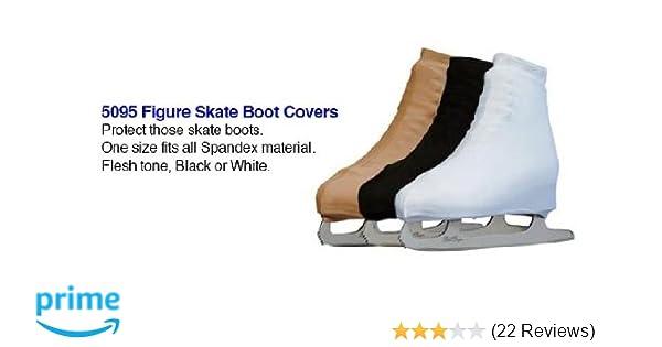 Roller skate boot covers Black Lycra Ice Skate